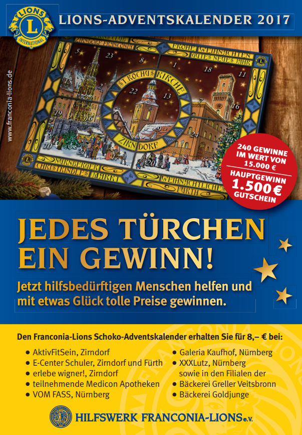 Lions Club Zirndorf Franconia Poster